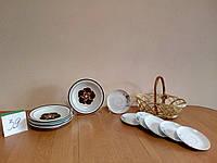 Красивый набор тарелок с корзиной с Германии б / у