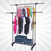 Вешалка стойка для одежды Double Pole WJF-001 ( 30kg/1300*450*1600 )