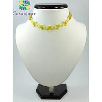 Чокер Версаль лимонный, Чокер из натурального камня, Красивый желтый чокер