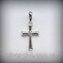 Крестик серебряный 925 пробы  с камнем от производителя в Харькове