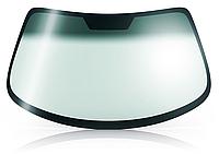 Лобовое стекло Mitsubishi Pajero III зеленое голубая полоса с обогревом датчик (света и/или дождя) изменение крепежа под зеркало+изменение шелкографии