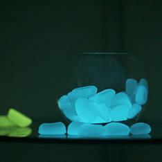 Светящиеся камни (светящаяся галька). Цвет: голубой, зеленый, бирюзовый, 1 кг