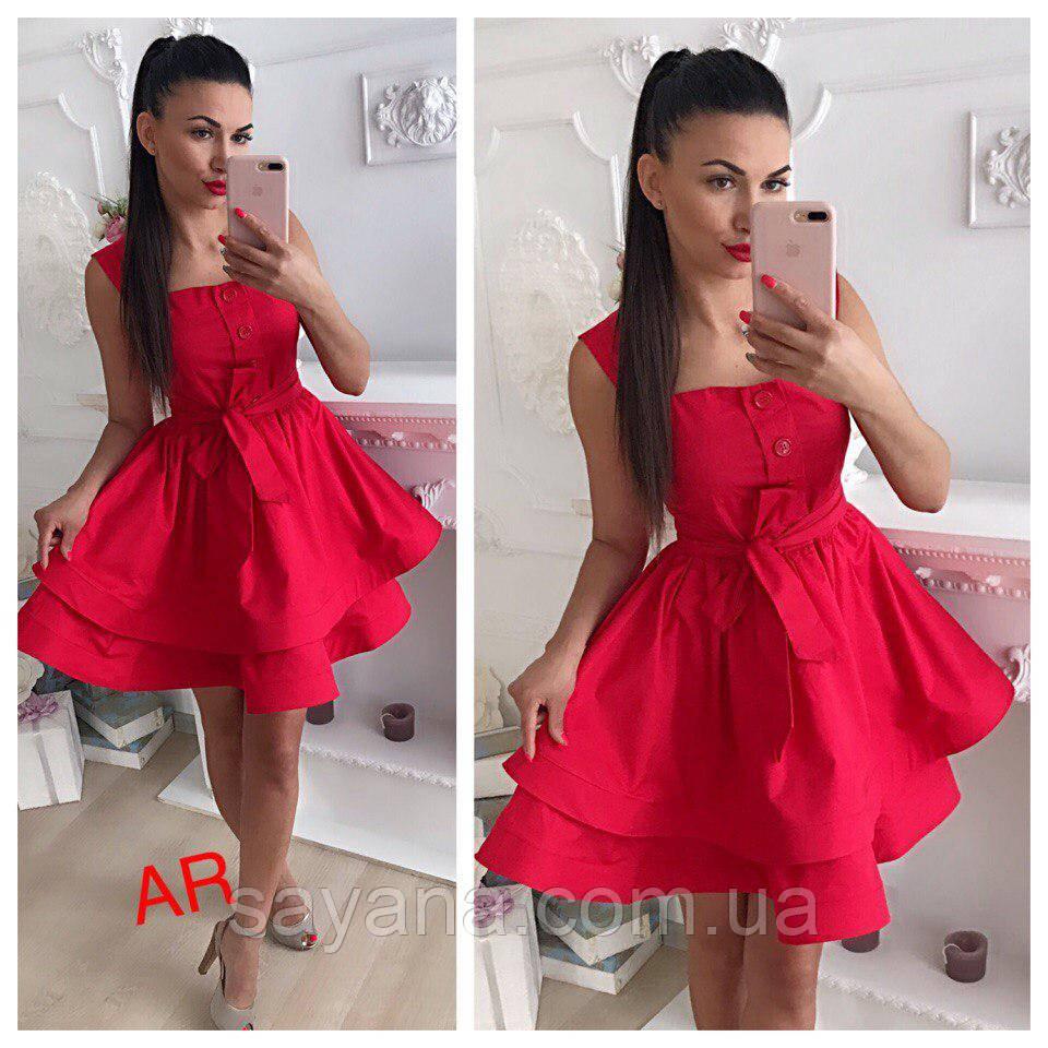 Женское сатиновое платье, в расцветках. АР-20-0518
