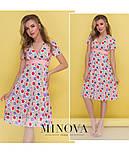 Платье с глубоким декольте на завышенной талии и короткими рукавами ТМ Минова Размер: 42,44,46,48, фото 2
