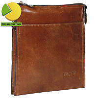 226d87f17b74 Эксклюзивная мужская кожаная сумка рыжая глянцевая Bulunuo BL005865-31