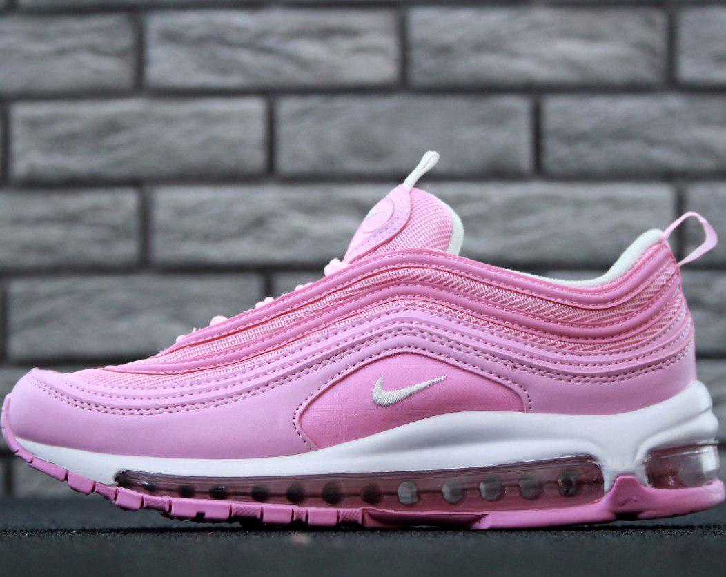 "Женские кроссовки Nike Air Max 97 ""Pink/White"" Рефлективные"