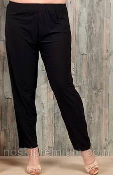 Брюки женские бамбук Алия (баталы), с карманами, чёрные, размер 54-60, 9504