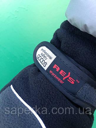 Зимові рукавички термо фліс сірі Reis (Польща), фото 2
