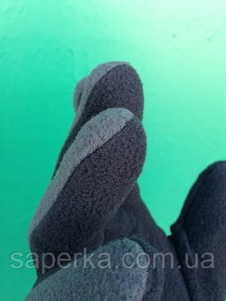 Зимние перчатки термо флис серые Reis (Польша), фото 2