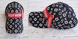 Хит сезона!  новинка женская кепка Louis Vuitton Supreme катон черная