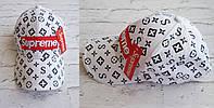 Хит сезона!  новинка женская кепка Louis Vuitton Supreme катон белая, фото 1