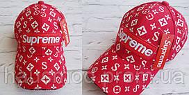 Хит сезона!  новинка женская кепка Louis Vuitton Supreme катон  красная