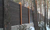 Забор из бревна оцилиндрованного