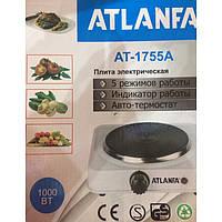 Электроплитка дисковая с 1 конфоркой, защитой от перегрева 1000вт Atlanfa AT-1755A