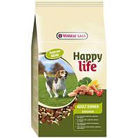 Корм Happy Life Adult Dinner Chicken (С курицей) для взрослых собак 15 кг