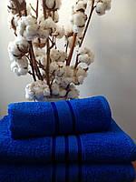 Махровое полотенце 70х140, 100% хлопок 400 гр/м2, Пакистан, Темно-Синий