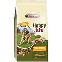 Корм Happy Life Adult Chicken Energy (Энергия С курицей) для взрослых собак 15 кг