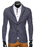 Мужской Men's elegant blazer jacket M83 - navy M, Синий