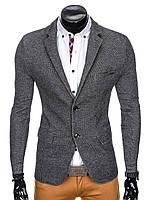 Мужской Men's elegant blazer jacket M83 - черный M, Черный