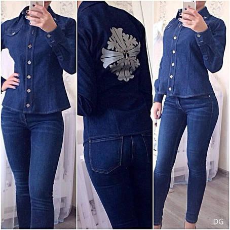 Женская рубашка Джинс , фото 2