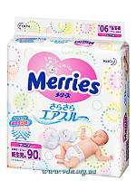 Подгузники Merries   NB (0-5 кг) 90шт