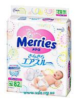 Подгузники Merries   S (4-8 кг) 82шт