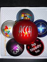 Шарики елочные с логотипом