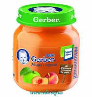 Пюре Gerber Яблоко и персик 130г с 4мес