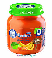 Пюре Gerber Яблоко, абрикос, банан 130г с 4мес
