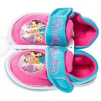 Тапочки закрытые на липучке Принцессы /Princess для девочек (р. 22-24,27) ТМ ARDITEX WD11694