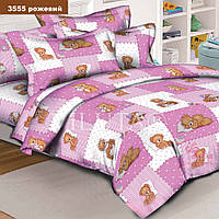 """Комплект постельного белья """"Вилюта"""" ранфорс детский - 3555 (розовый), Размер постельного детский"""