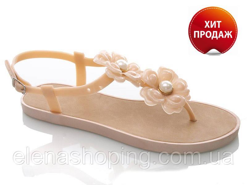 Стильные женские силиконовые вьетнамки -босоножки  р (36-37)