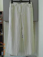 Льняные брюки 52 размера прямого покроя, фото 1