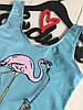 Стильный купальник закрытого типа с надписью и рисунком, ТМ Exclusive, фото 2