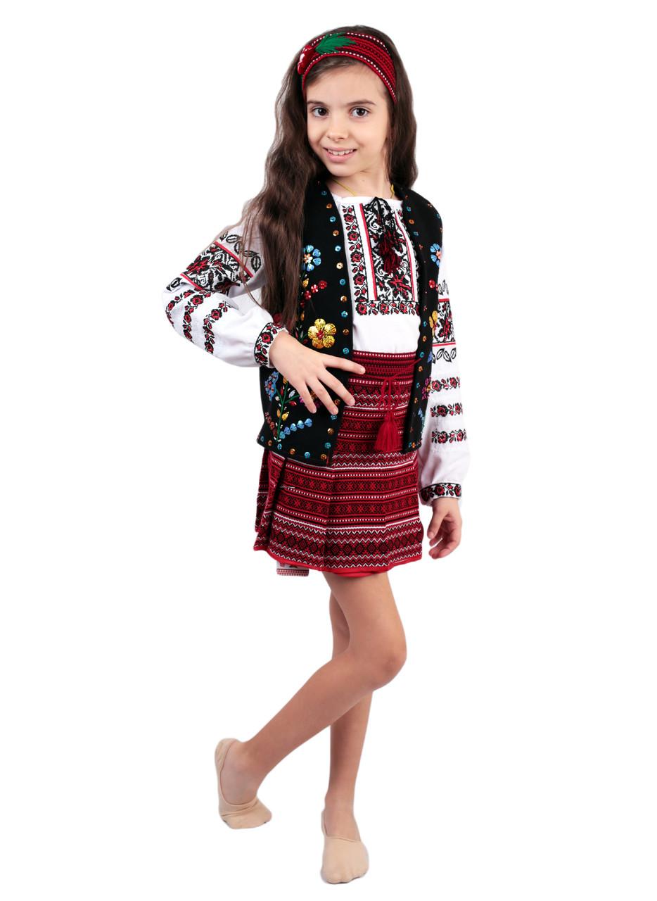 Дитячий кептарик для дівчинки чорного кольору