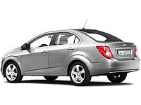 Заднее стекло (ляда) Chevrolet Aveo (2006-2012), Седан, с антенной для радио
