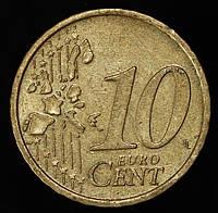 Монета Австрии  10 евроцентов 2002 г.