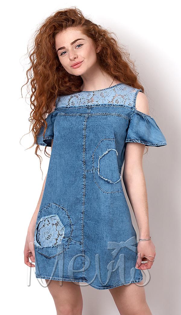 Плаття літнє джинсовий для дівчинки підлітка