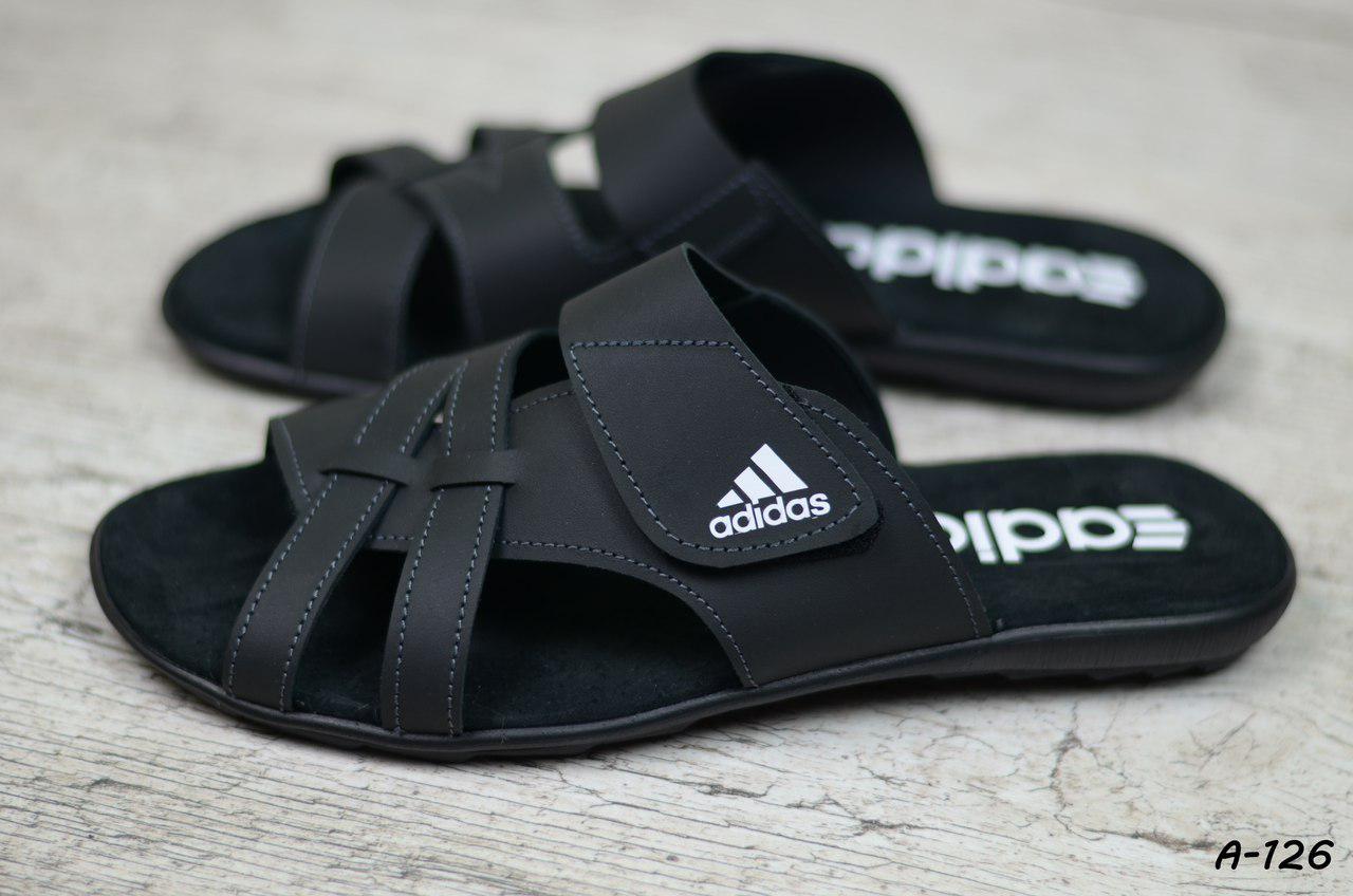 e77ae235fa7a Мужские кожаные шлепанцы Adidas - Интернет - Магазин мужской обуви My-Shoes  в Хмельницком