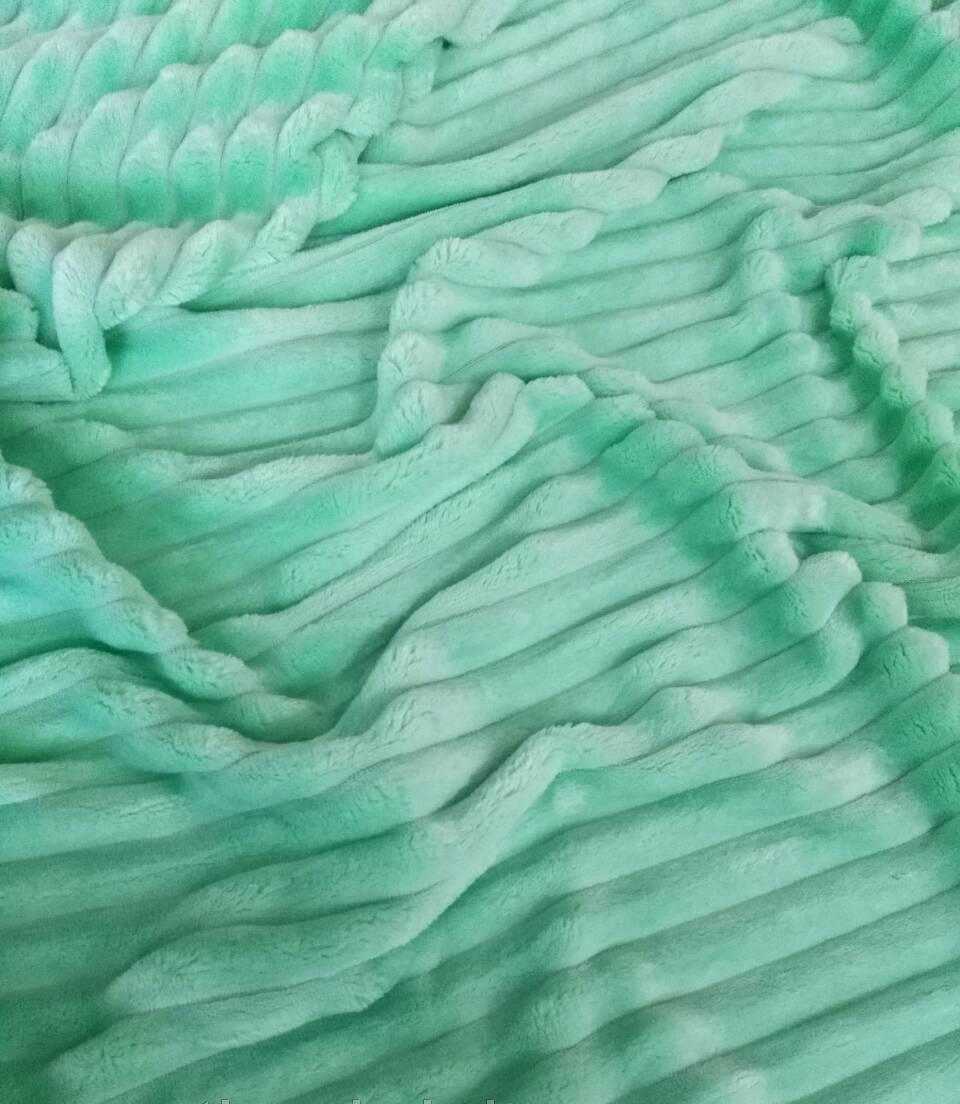 Плюшевый чехол на кушетку 76 см на 200 см - мятный (шарпей)