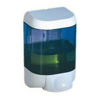 Дозатор мыла жидкого пластик прозрачный/белый 1л Prestige
