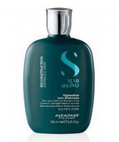 Безсульфатный шампунь для реконструкции волос Alfaparf Milano Semi Di Lino Reparative Low Shampoo 250 ml
