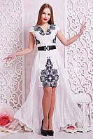 Сукня з креп-дайвінгу + шлейф з шифону, фото 1