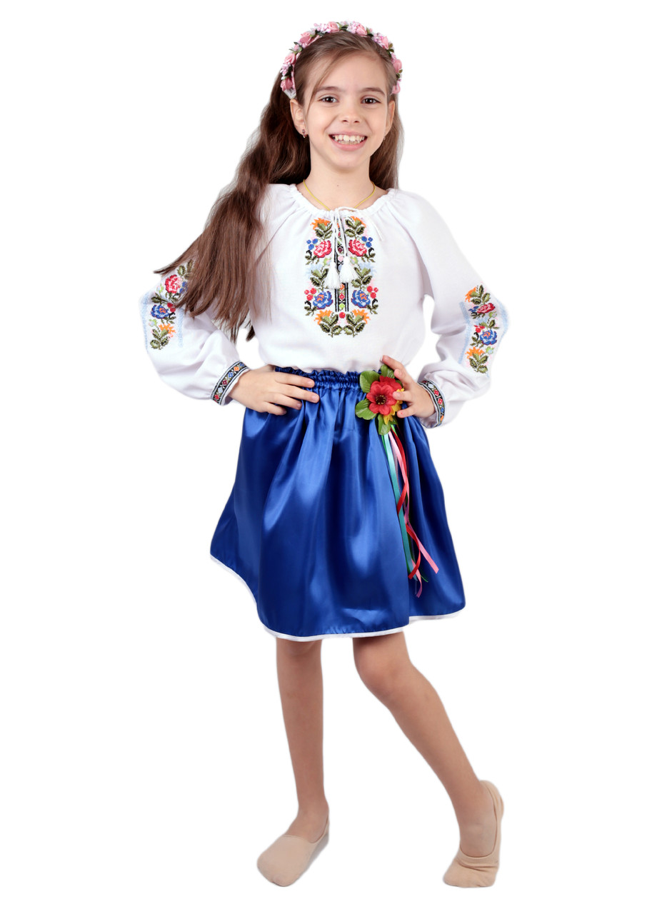 Дитяча вишита сорочка для дівчаток на домотканому полотні  продажа ... d8be3fa3537e6