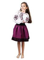 Дитяча вишита сорочка для дівчаток на домотканому полотні