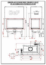 Каминная топка BeF Home Bef Therm V 10 CP, фото 3