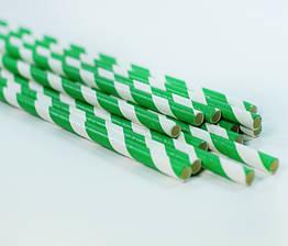 Бумажные трубочки для напитков, 25 штук зеленые