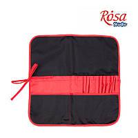 Пенал для пензлів чорний+червоний ROSA Studio