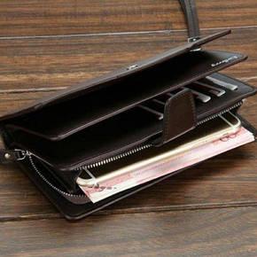 Мужской кошелек-клатч Baellerry Business brown, фото 2