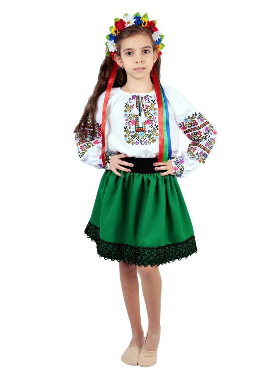 Дитяча спідничка габардинова зеленого кольору